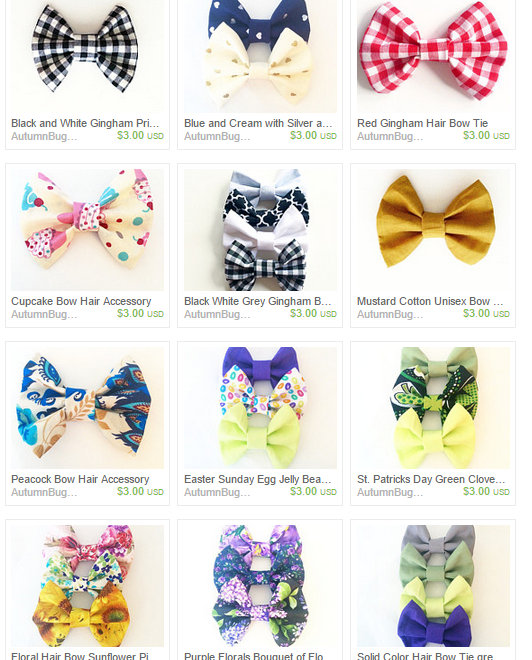 View Bows by AutumnBugABow on Etsy - Google Chrome 362015 61602 PM